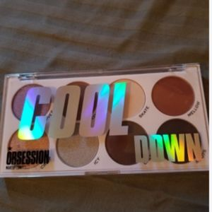 Makeup Obsession Cool Down Pallet and cream Highli